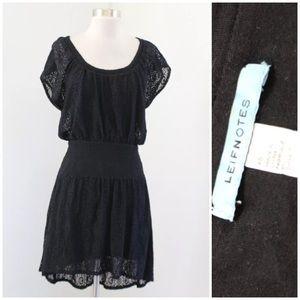 Leifnotes Hi Lo Smocked Lace Dress